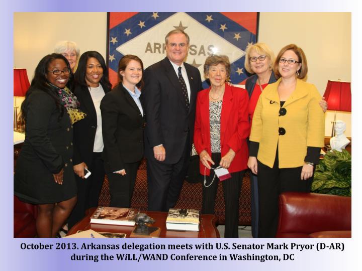 October 2013. Arkansas delegation meets with U.S. Senator Mark Pryor (D-AR) during the W