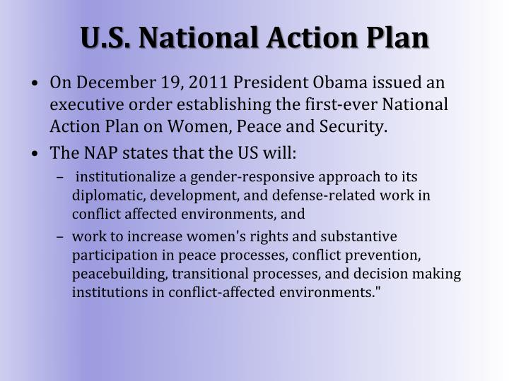U.S. National Action Plan