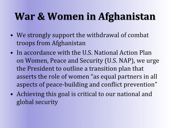 War & Women in Afghanistan