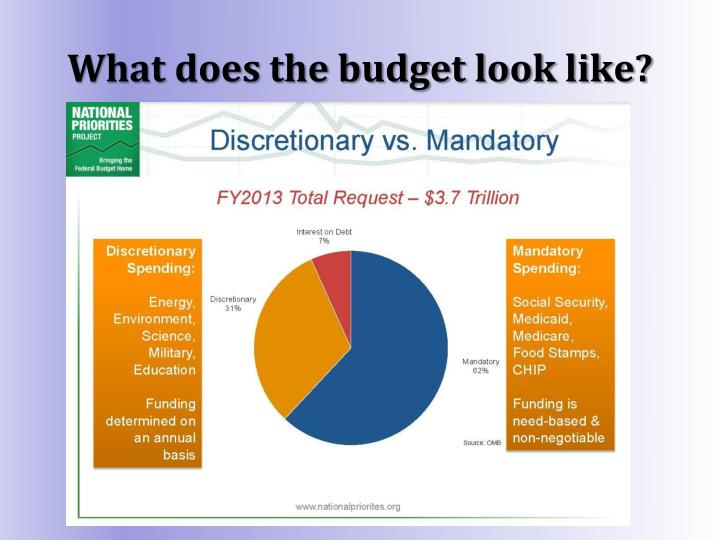 What does the budget look like?