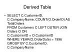 derived table2