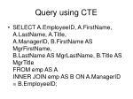 query using cte