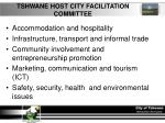 tshwane host city facilitation committee
