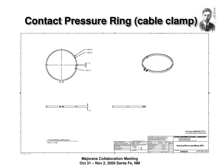 Contact Pressure Ring (cable clamp)