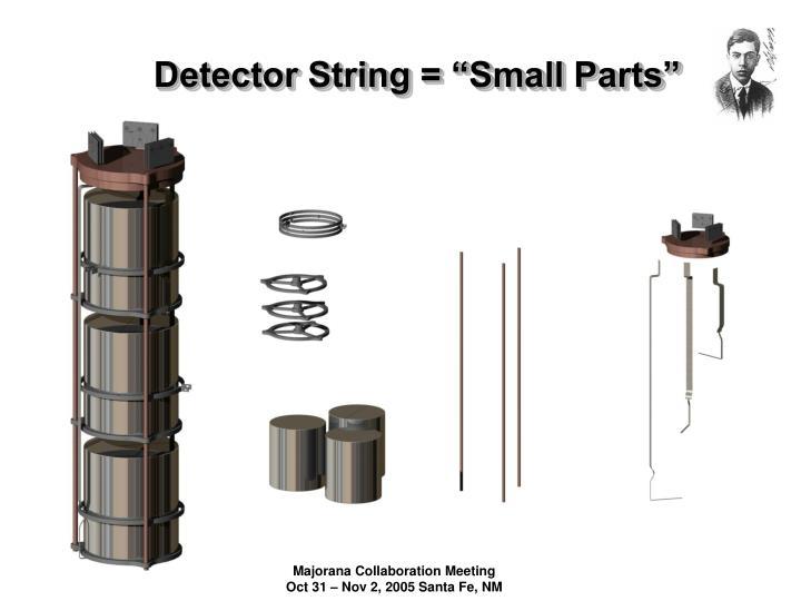 Detector string small parts