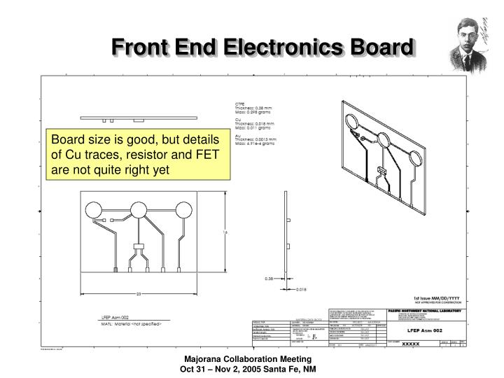 Front End Electronics Board