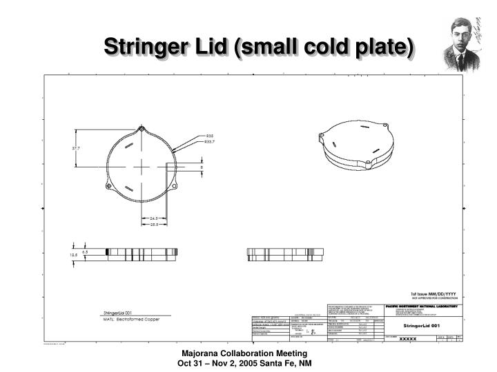 Stringer Lid (small cold plate)