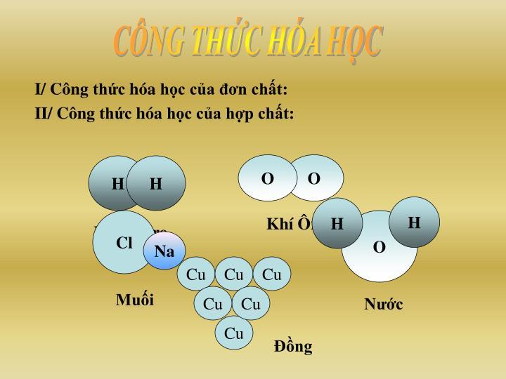 I c ng th c h a h c c a n ch t ii c ng th c h a h c c a h p ch t