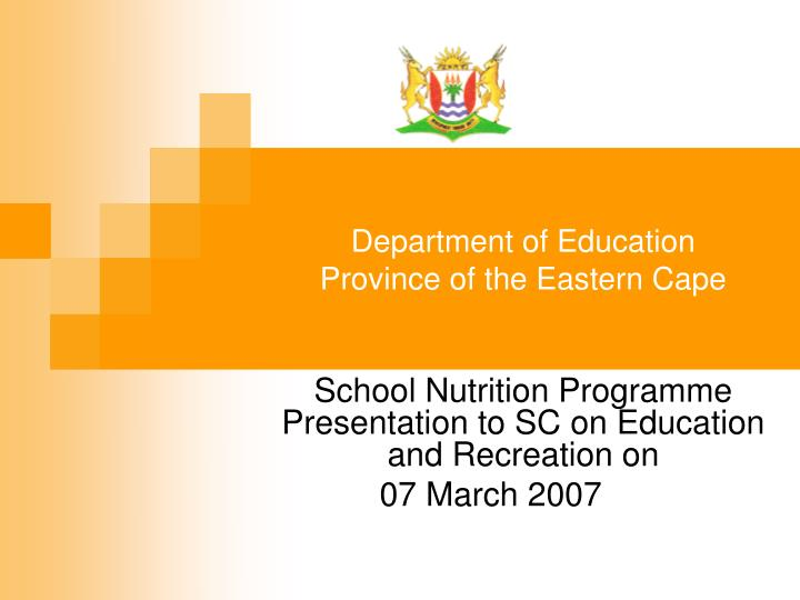 department of education province of the eastern cape n.