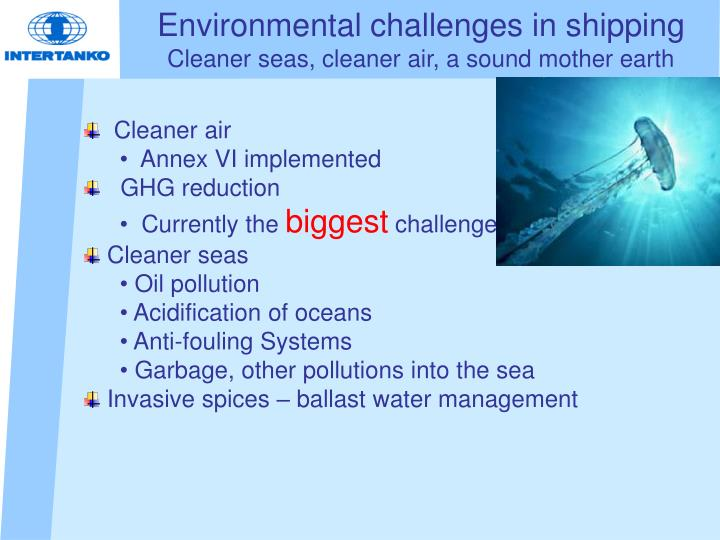 Environmental challenges in shipping