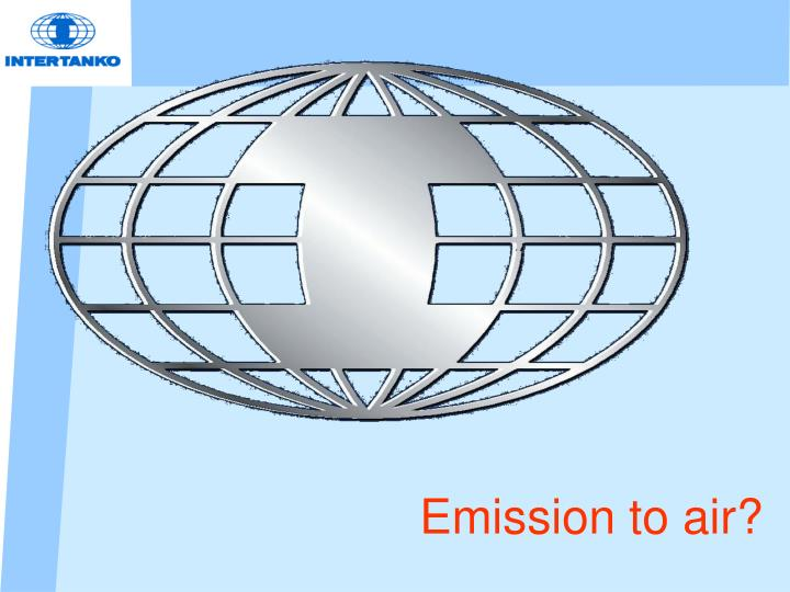 Emission to air?
