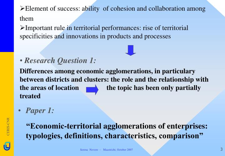 Element of success ability of cohesion and collaboration among them