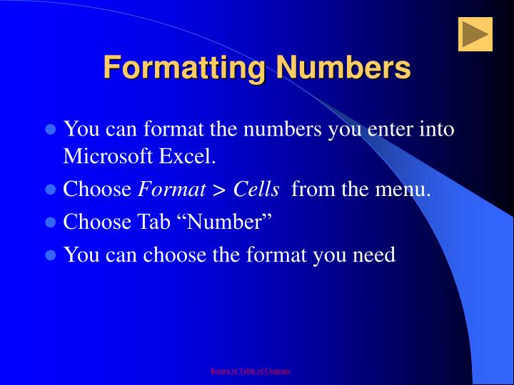 Formatting Numbers