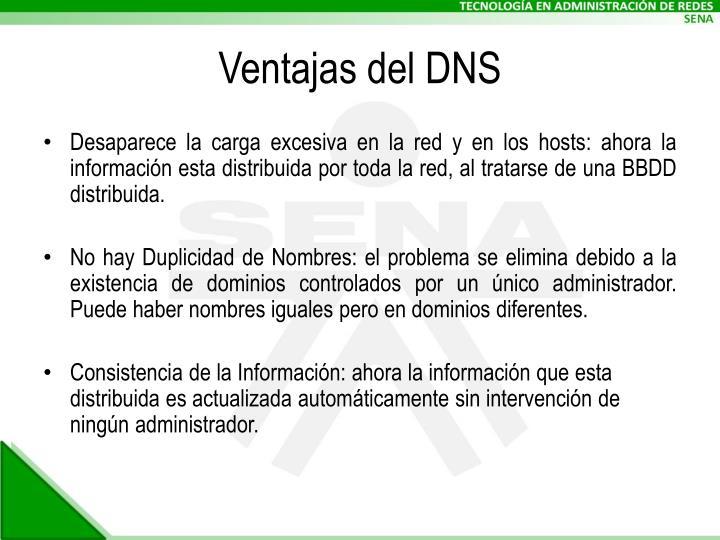 Ventajas del DNS