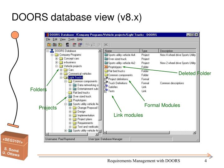 DOORS database view (v8.x)  sc 1 st  SlideServe & PPT - SEG 3101 Requirements Management with DOORS PowerPoint ...