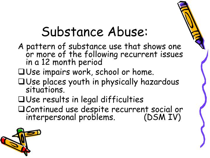 substance abuse sop Alcohol and substance abuse policy (company name) is a drug and alcohol-free workplace the use of or being under the influence of illegal drugs and/or alcohol is inconsistent with the behavior expected of employees.