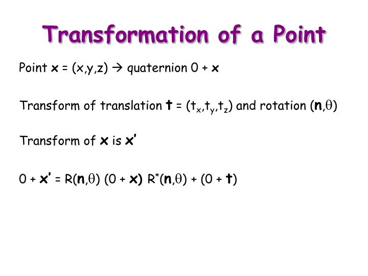 Transformation of a Point