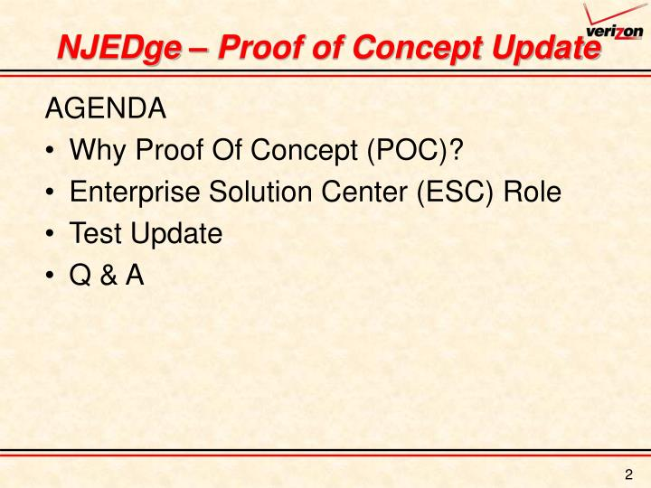 Njedge proof of concept update
