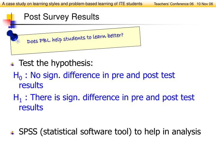 Test the hypothesis: