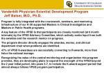 vanderbilt physician scientist development program jeff balser m d ph d