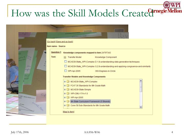 How was the Skill Models Created