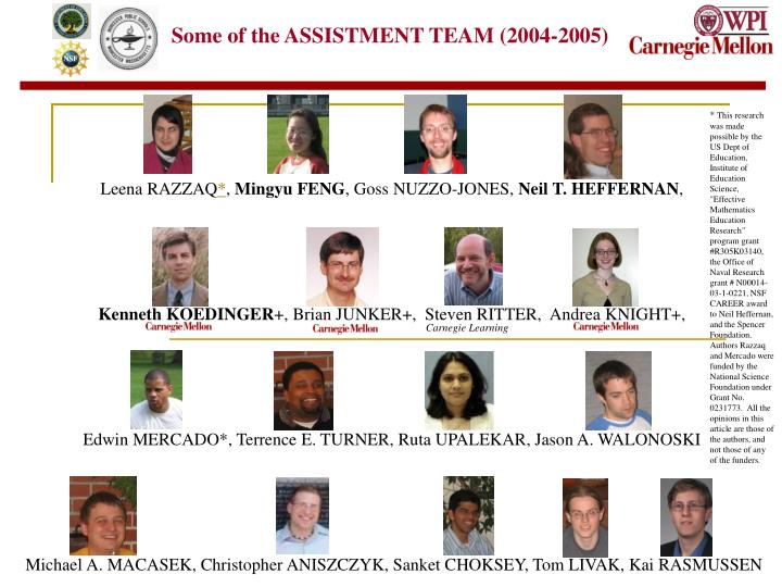 Some of the ASSISTMENT TEAM (2004-2005)