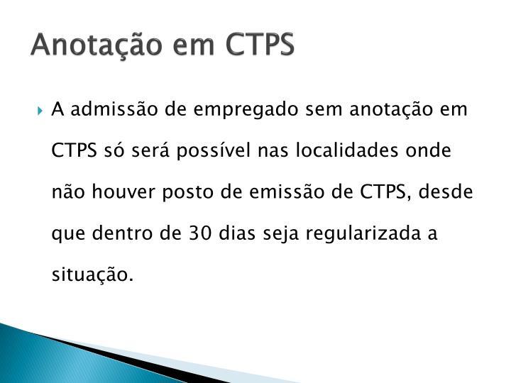Anota o em ctps1