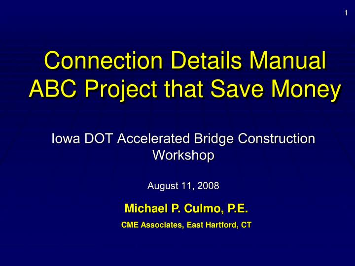 connection details manual abc project that save money n.