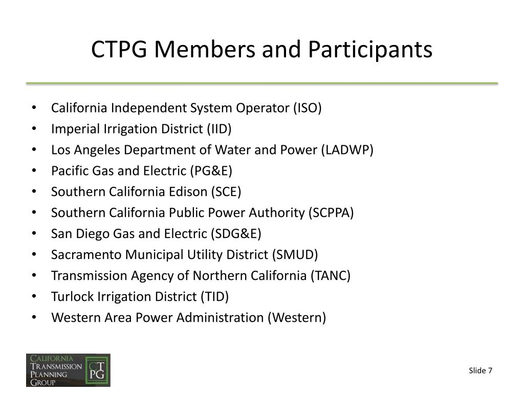 PPT - California Transmission Planning Group PowerPoint
