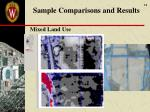 sample comparisons and results1