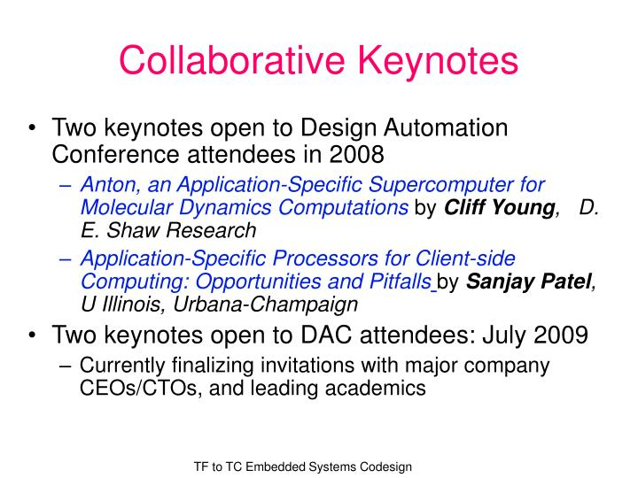 Collaborative Keynotes