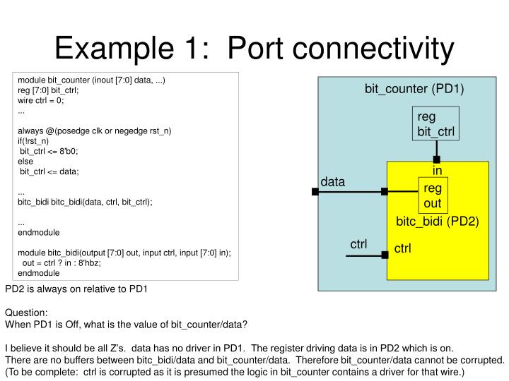 example 1 port connectivity n.