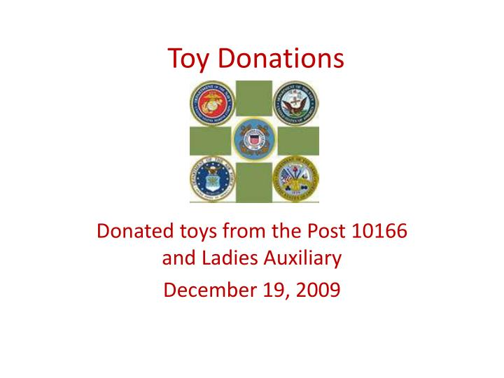 toy donations n.