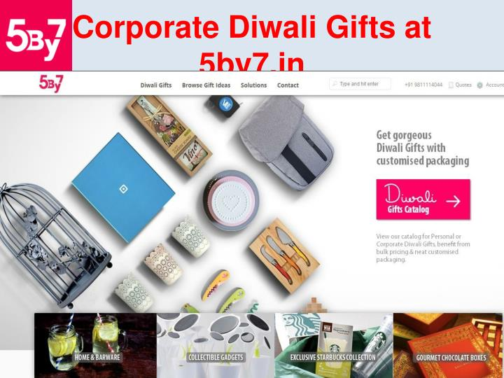 corporate diwali gifts at 5by7 in n.