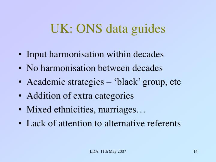 UK: ONS data guides