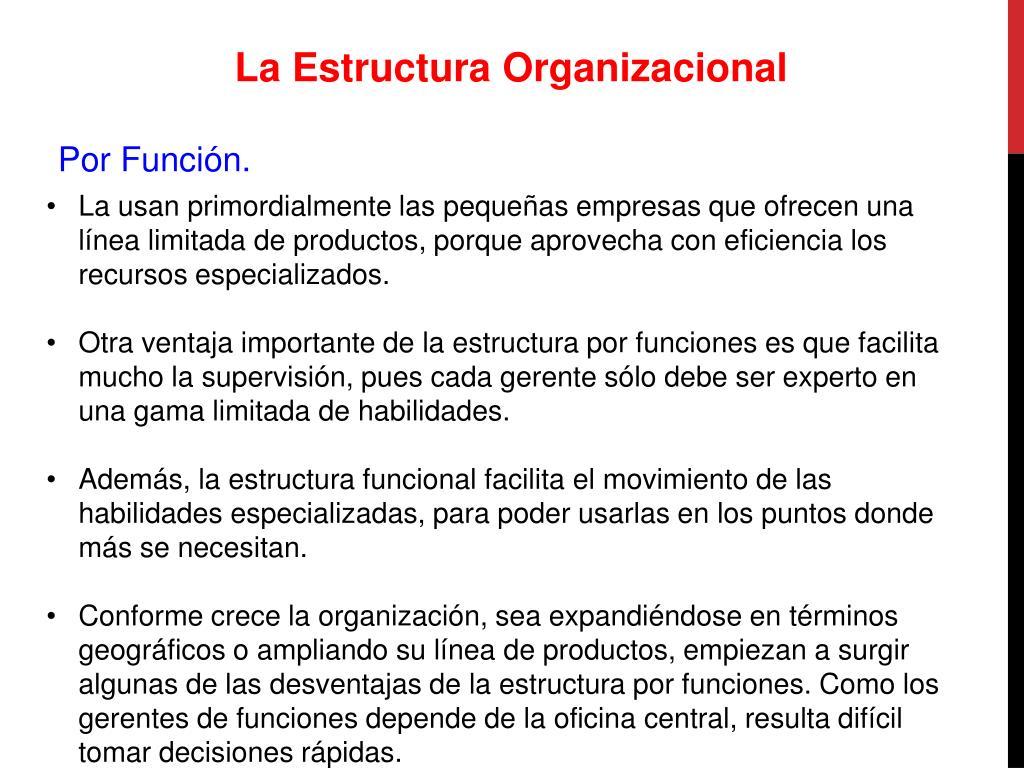 Ppt La Organizacion Powerpoint Presentation Free Download