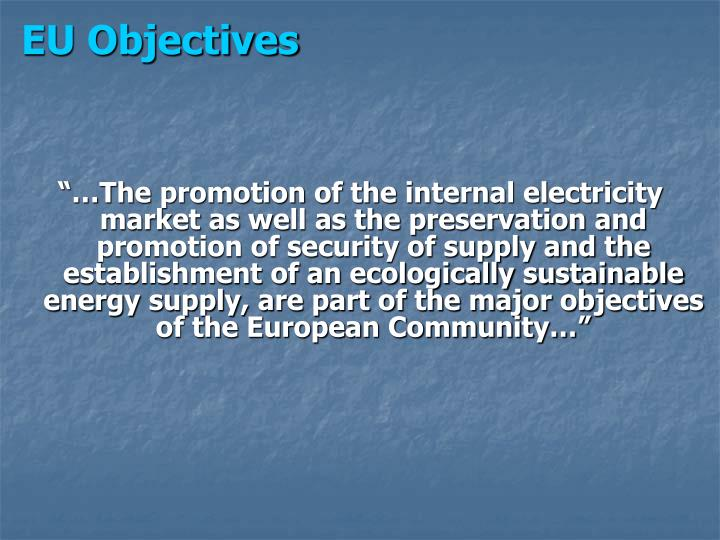 Eu objectives