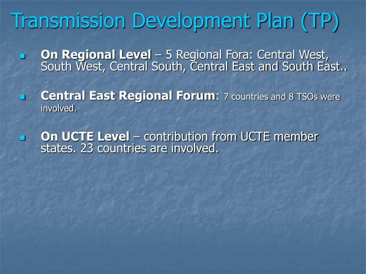 Transmission Development Plan (TP)