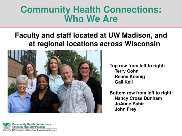 Community health connections who we are