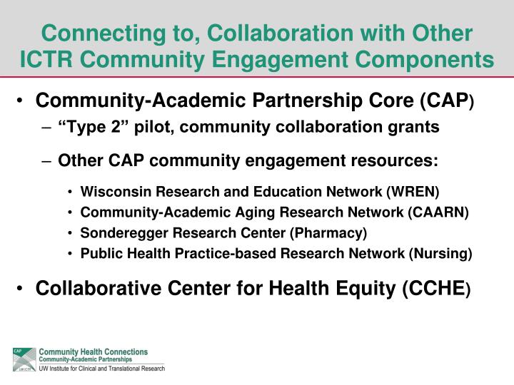 Connecting to, Collaboration with Other