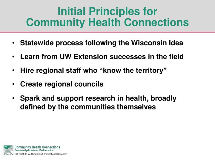 Initial Principles for