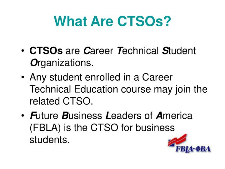 What Are CTSOs?