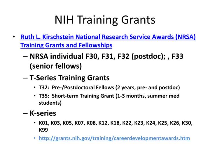Nih training grants