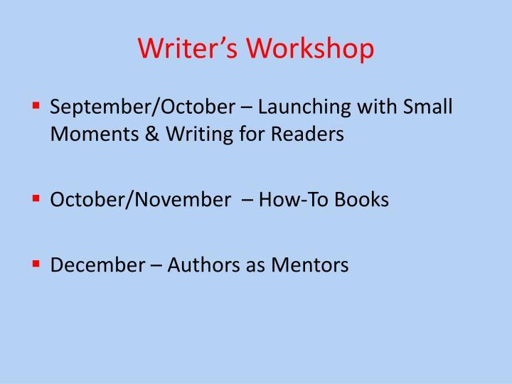 Writer s workshop1