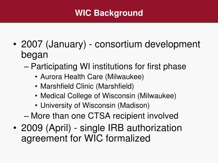 Ppt Wisconsin Irb Consortium Wic A Model For Multi Site Irb