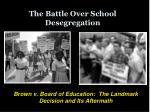 the battle over school desegregation
