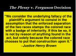 the plessy v ferguson decision