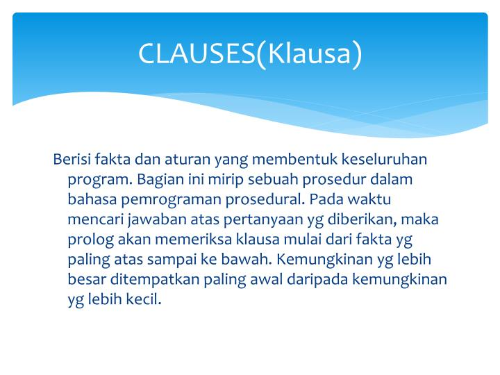 CLAUSES(Klausa)