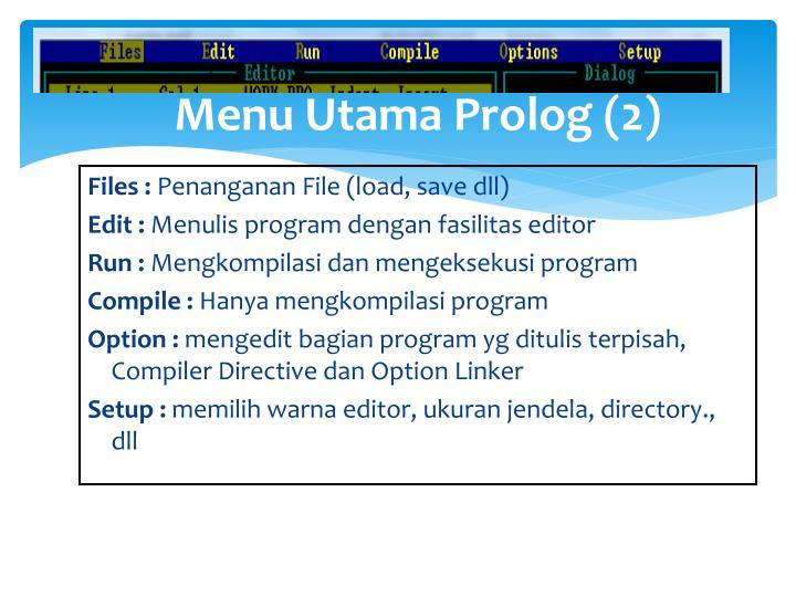 Menu Utama Prolog (2)