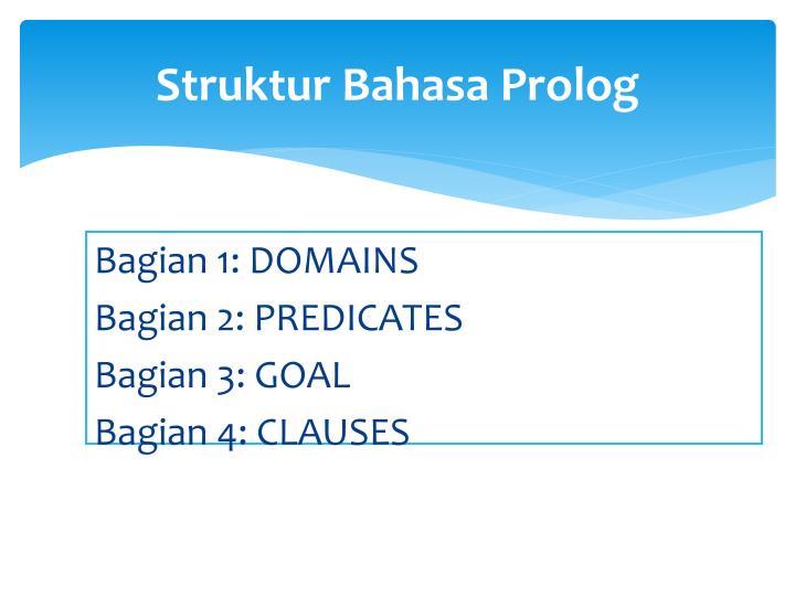 Struktur Bahasa Prolog